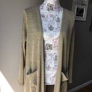 Lularoe Sarah Gold Mustard Duster Sweater Cardigan
